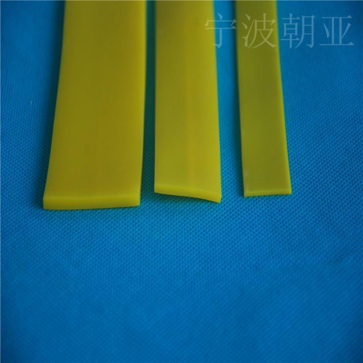 黄色硅胶平板耐高温防磨损密封条