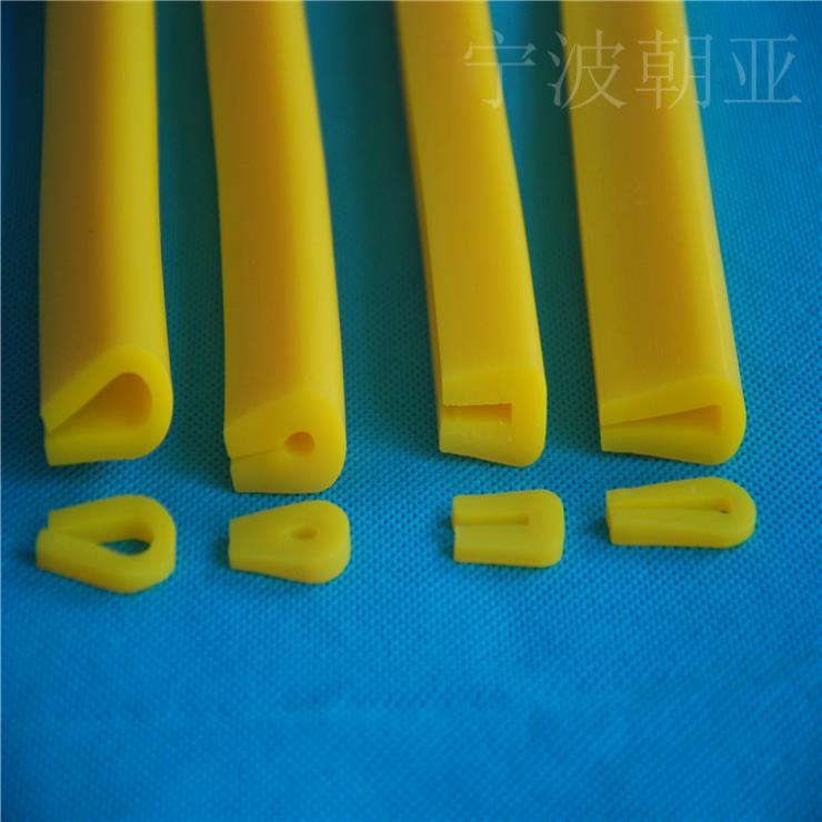 黄色硅胶u型耐高温密实密封条