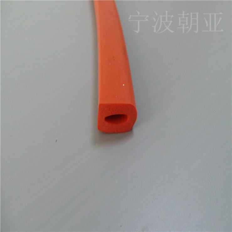 红色硅胶d型空心耐高温密封条