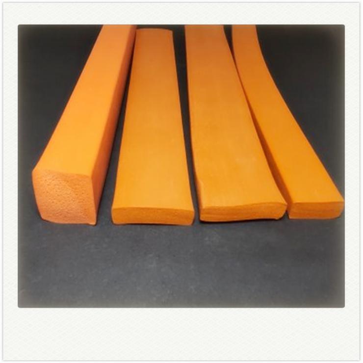 硅胶平板密封条发泡海绵半圆形密封条D型防撞密封