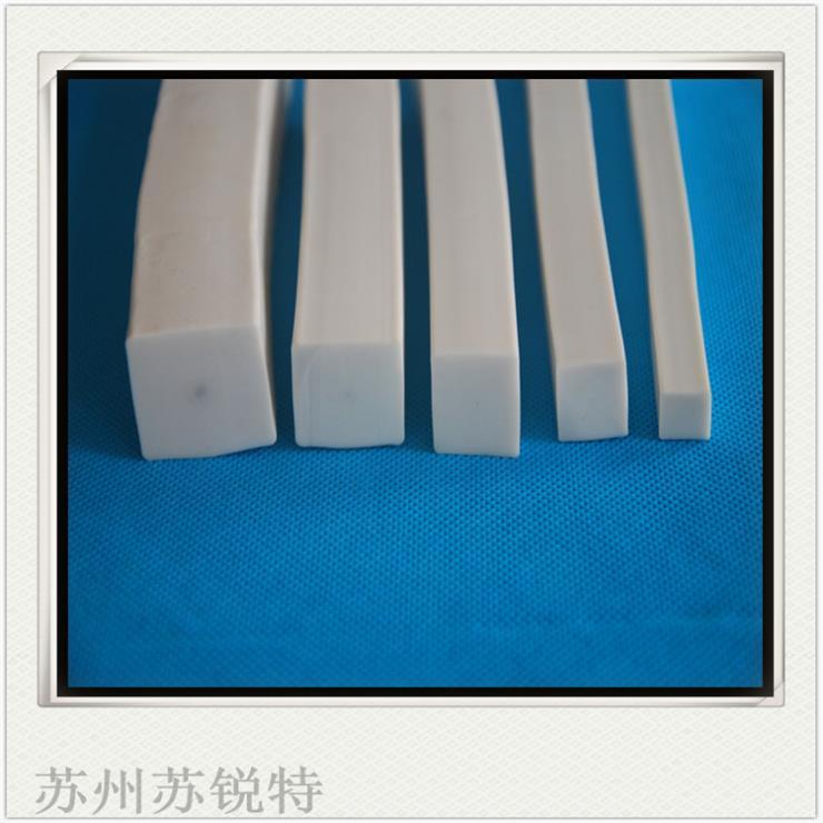 白色硅胶方形实心发泡耐磨损密封条