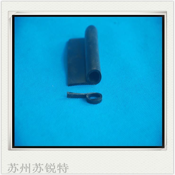 黑色硅胶P型 密实耐高温密封条