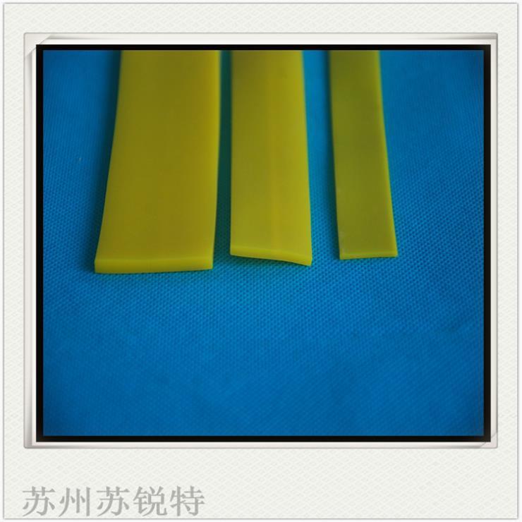 黄色硅胶平板密实耐高温密封条
