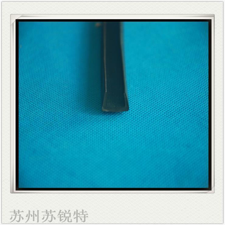黑色硅胶U型密实密封条