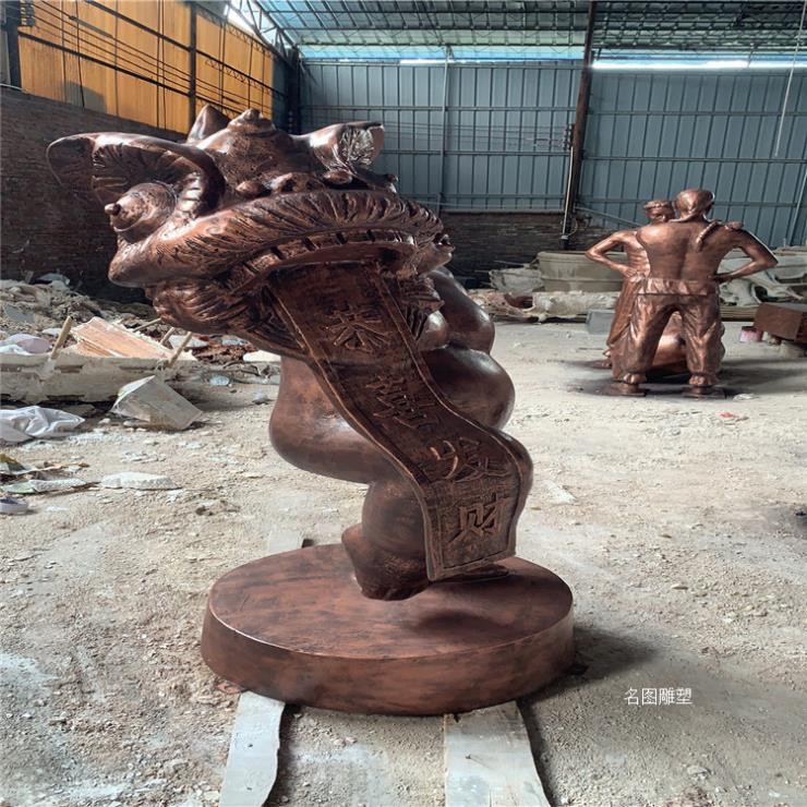 佛山玻璃钢人物雕塑 公园民俗文化小品人物雕塑