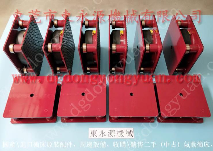 2楼机器减震脚,箱包裁断机减振垫