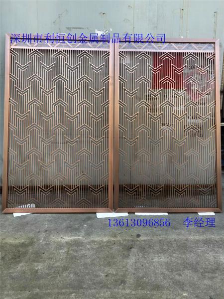源头加工厂家不锈钢中式屏风凤凰县
