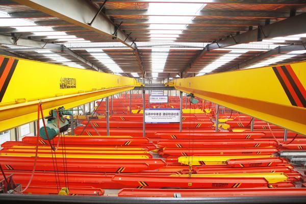 河南礦山32噸電動單梁懸掛起重機集團考察負責人