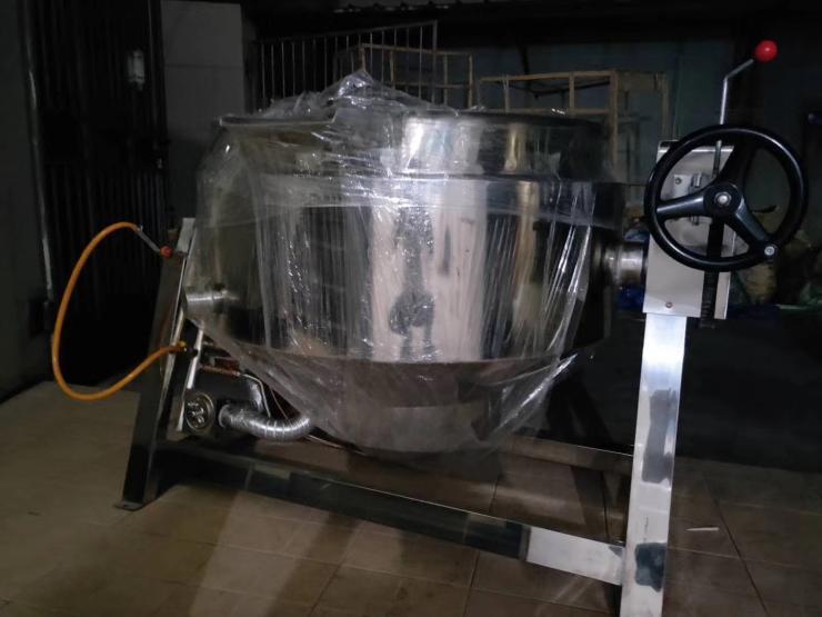 餐厅食堂节能燃气可倾式汤锅摇摆式炒锅中央厨房安装改造