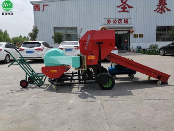 颍上县青贮打捆包膜机养殖厂专用