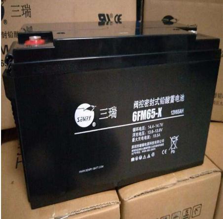 雄韬三瑞蓄电池6FM-65 太阳能/直流屏/UPS专用