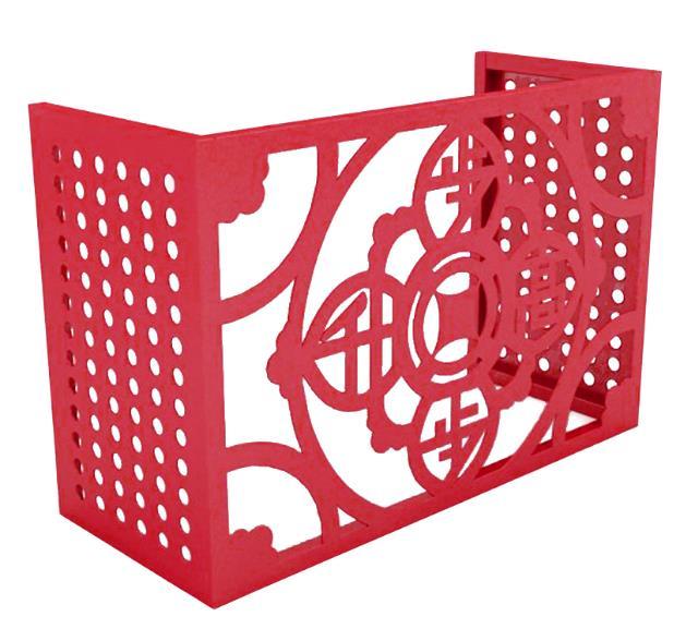 琦铝-铝空调外机定制空调外机罩室外防护栏格栅
