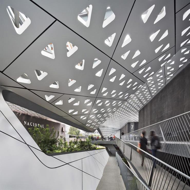 琦铝-铝单板吊顶冲孔铝单板招牌门头设计