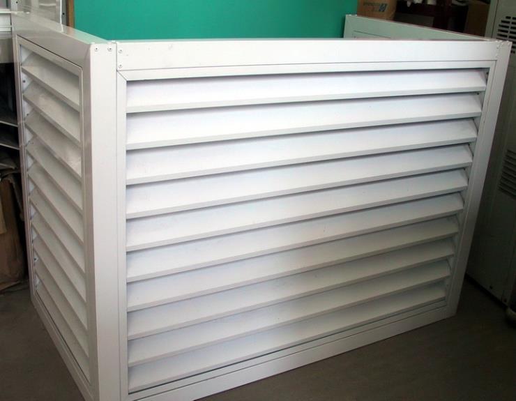 空调外机保护罩外机防雨防晒铝合金装饰