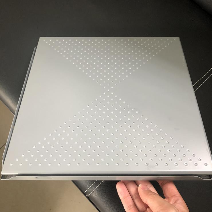 灰色铝扣板 300x300微孔铝扣板