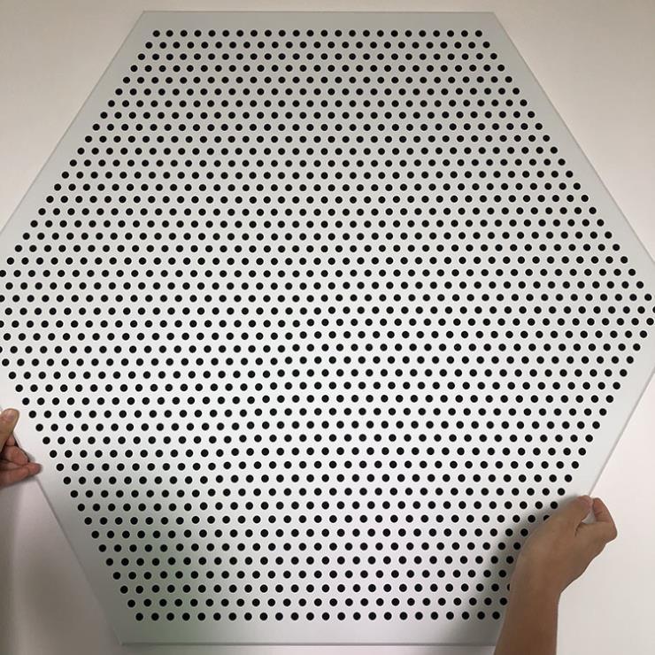 六邊形鋁扣板 六角形沖孔鋁扣板