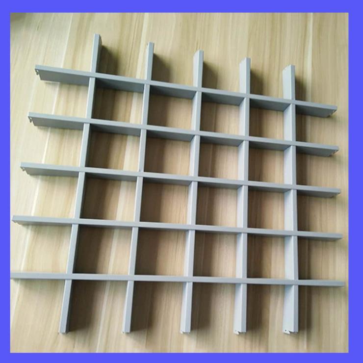 灰色铝格栅 150x150铝格栅吊顶 湖北粤艺佰工厂定制