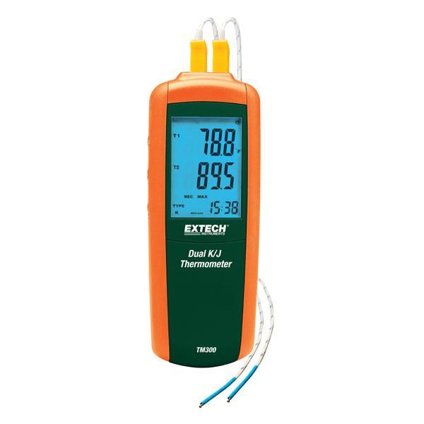 EXTECH双通道热电偶测温表 TM300