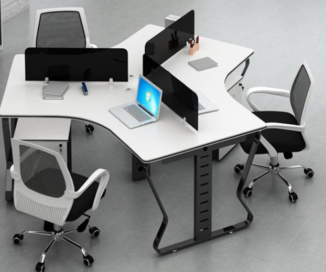 现代简约屏风职员办公组合桌椅