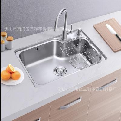 厂家直供厨房不锈钢洗碗盆单盆
