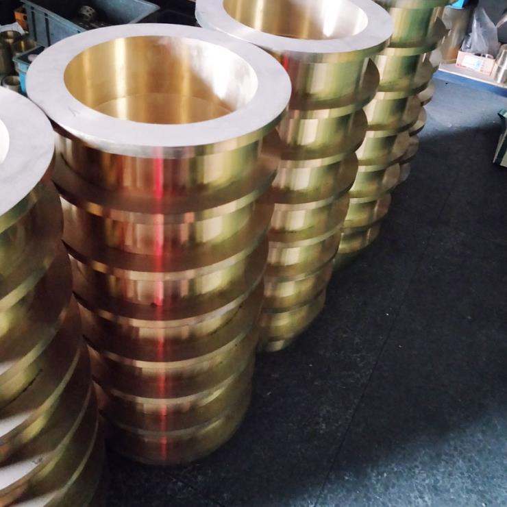 嘉善非標定制法蘭軸承 高力黃銅無油自潤滑襯套