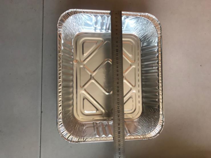 厂家直销多种规格320铝箔餐盒烧烤烘焙外卖打包专用