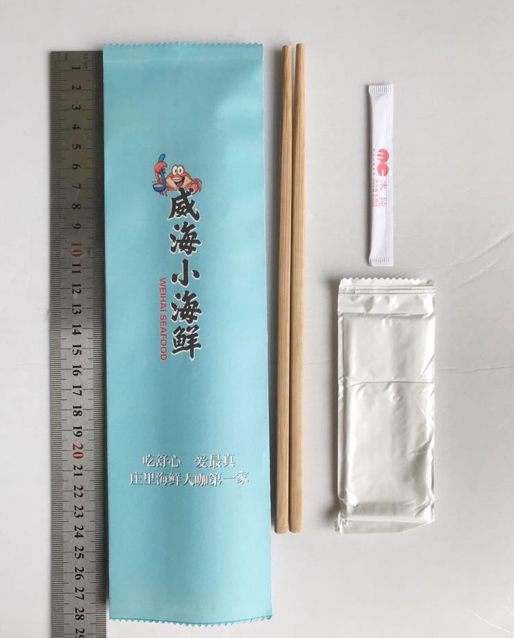 石家庄厂家定制一次性筷子三件套四件套饭店客人版