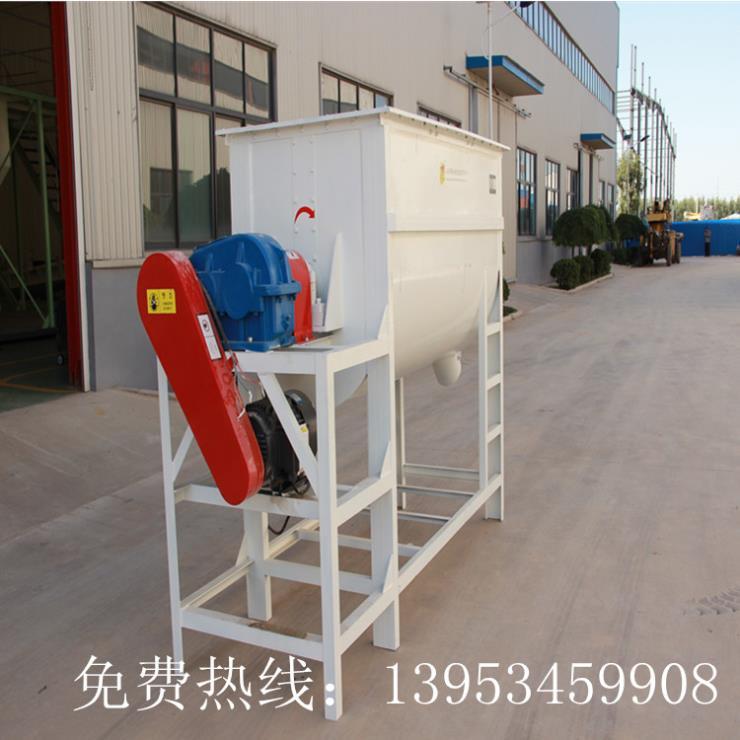 廠家直銷飼料用高效臥式,單軸螺帶式混合機可定制
