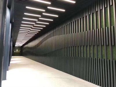 弧形铝方通吊顶内外墙铝方通