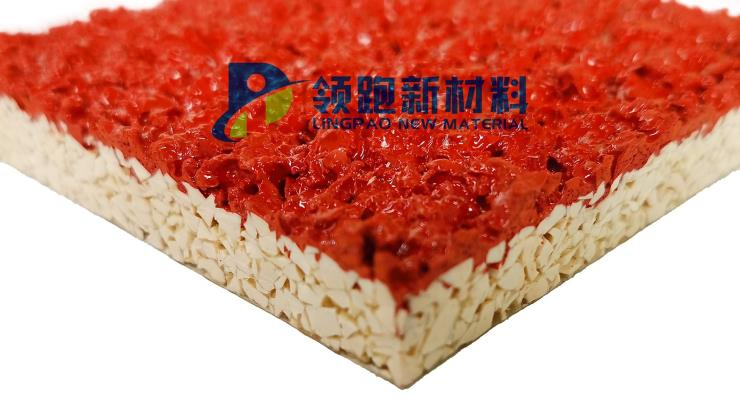 壹诺领跑透气型塑胶跑道材料|广东领跑