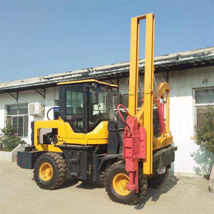 廠家出售 液壓打樁機 高速公路護欄打拔一體機 質量可靠