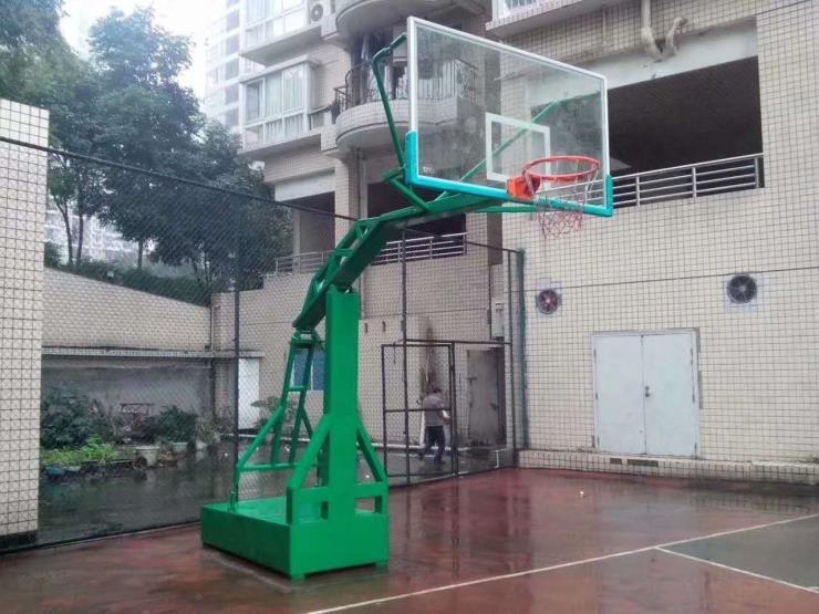 篮球架成人户外移动式平箱学校广场家用平箱式篮球架