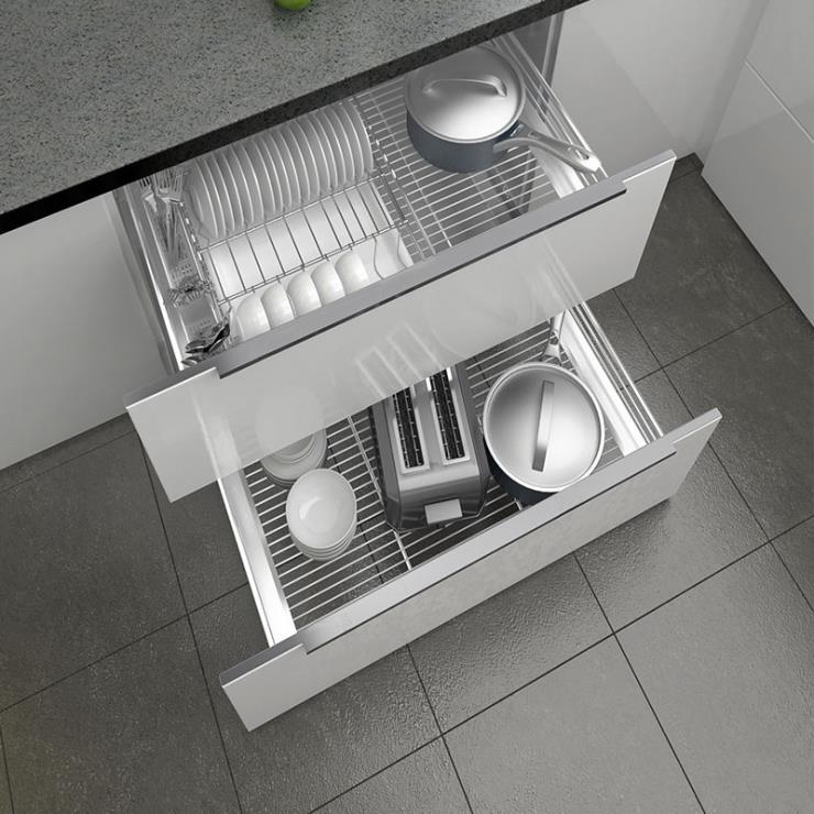 厨房橱柜拉篮双层304不锈钢调味篮