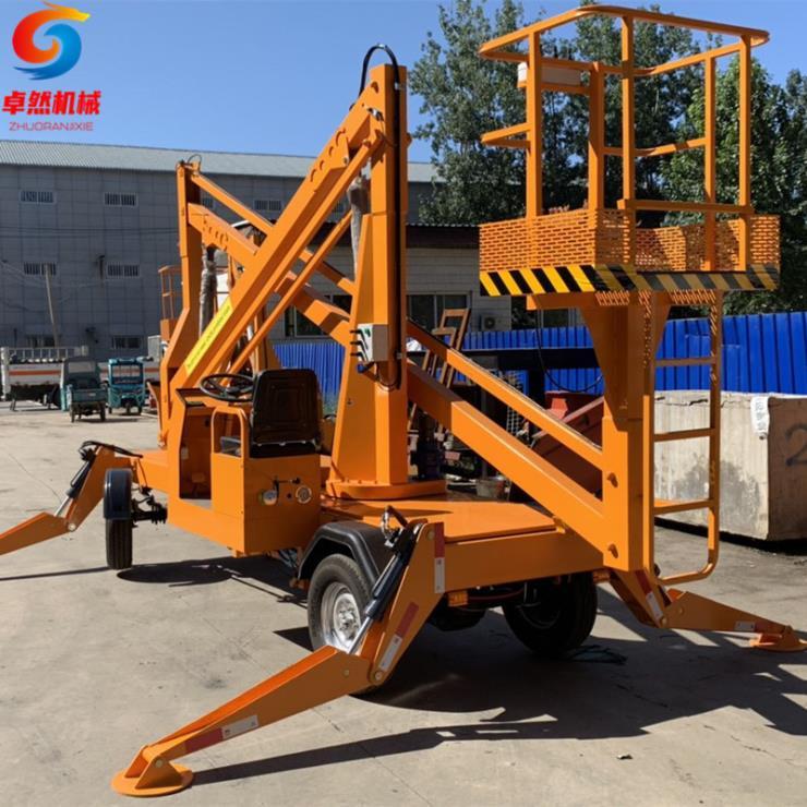 六柱14米曲臂自行式高空作業車