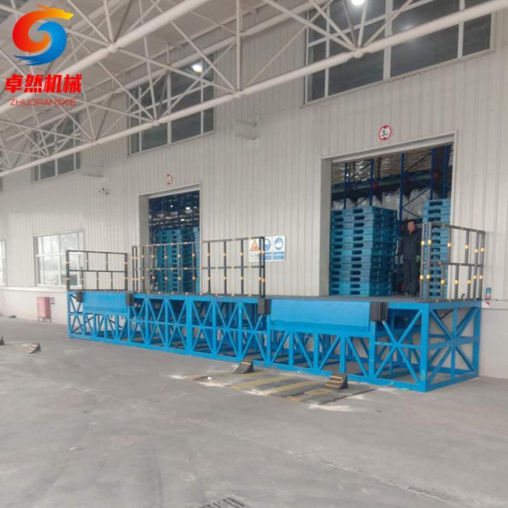 5噸12噸液壓集裝箱過橋板固定式