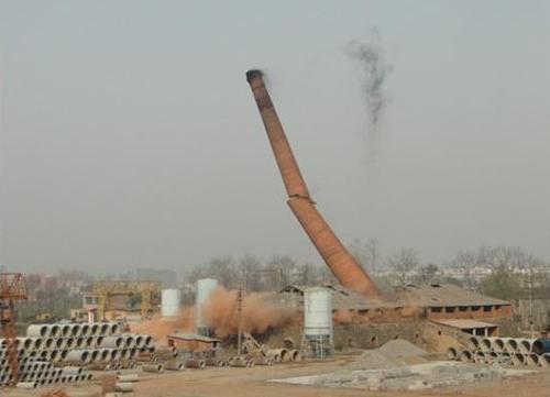 威海烟囱定位拆除公司