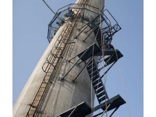 水泥煙囪安裝折疊梯 鍋爐煙囪安裝樓梯、磚煙囪安裝旋梯