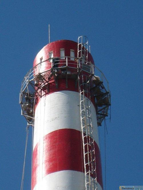 方烟囱爬梯护网防腐多少钱、凉水塔栏杆拆除更换价格