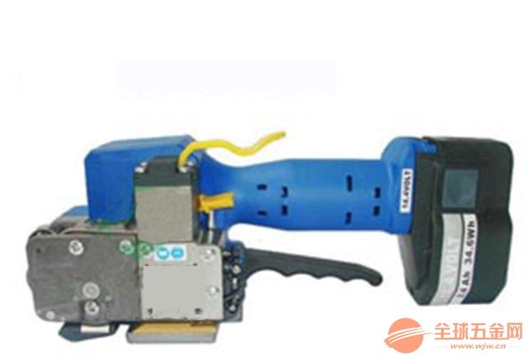 佛山钢铁工业手持电池PET塑料带捆包机
