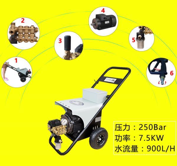 地面尘垢清洗使用电动高压清洗机