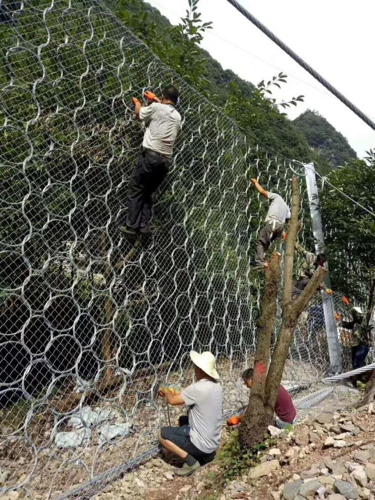 云梦县被动型边坡防护网高度