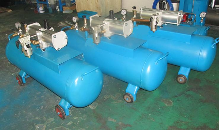 压缩空气增压器 工作原理 压缩空气增压器大型