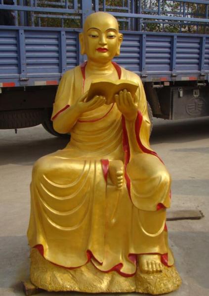 寺廟十八羅漢雕塑 銅彩繪十八羅漢像廠家