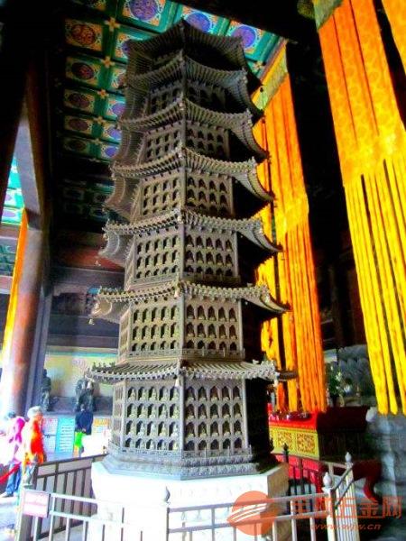 铜塔加工厂 做旧铜塔 贴金铜塔