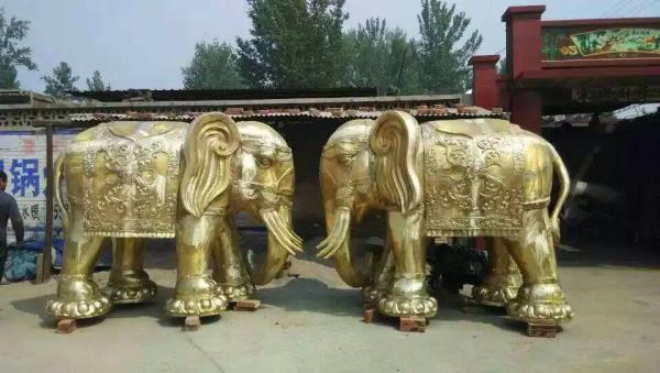 純銅大象落地擺件 銅大象鑄造廠家報價