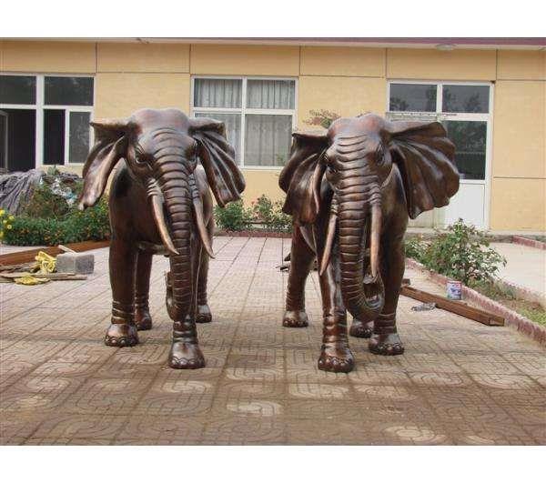 青銅大象風水擺件 銅大象價格 進忠銅雕廠家