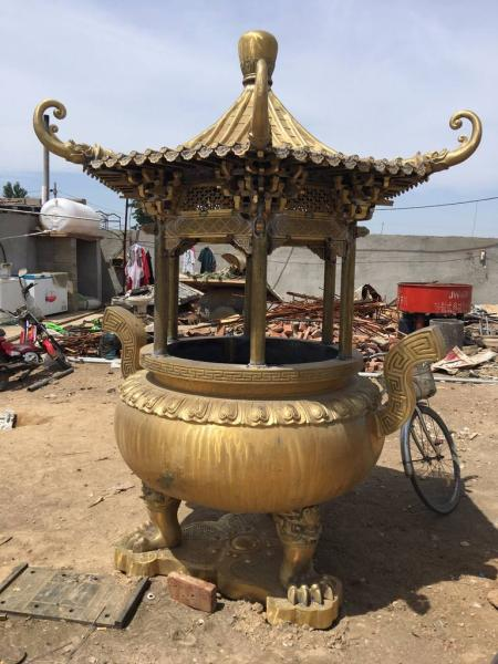 銅雕香爐 吉祥香爐工藝品 精致雕塑