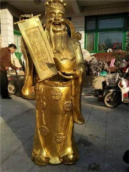 銅財神雕塑 加工銅財神 大號銅財神