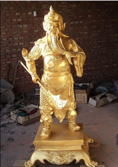 大型铜雕关公 2米高铜雕关公 大号铜关公