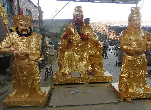横刀铜雕关公 铜关公厂家 定做铜关公
